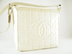 Authentic Chanel Beige Quilted CC logo Leather Handbag Bag Purse (SOLD NOT AVAILABLE)