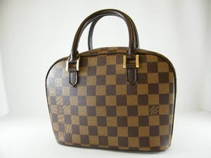 Authentic Louis Vuitton Sarria Mini Brown Damier Leather Handbag Bag Tote Purse (SOLD!)