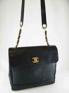 Gorgeous! Authentic Chanel Caviar Leather Black Bag / Messenger (SOLD!)
