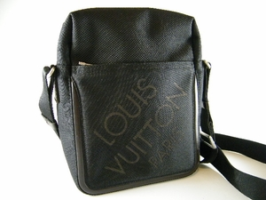Authentic Louis Vuitton Black Damier Geant Citaden Messenger Ipad Bag Handbag Purse