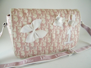 Authentic Christian Dior Large Pink Girly Boston Reporter Messenger Bag (CLEARANCE)