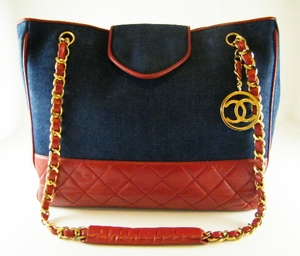 $2000 Vintage! CHANEL Red Leather N Jean Medallion Bag (SOLD!)