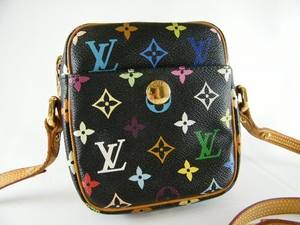Authentic Louis Vuitton Black Multicolor Leather Handbag Messenger Bag Purse (CLEARANCE) (SOLD!)
