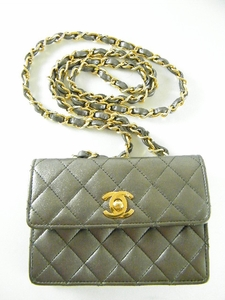 Gorgeous! Cute! $1600 Chanel Silver Grey Evening Leather purse (Clearance)