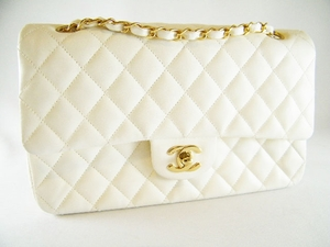Auth Chanel 2.55 Off White Quilted Leather Bag (SOLD!)