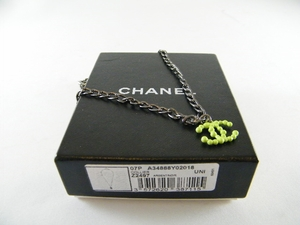 NEW! Authentic Chanel Collier Green CC Necklace (CLEARANCE) (Sold!)