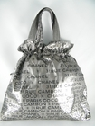 LIKE NEW! Authentic Chanel Lt Ed Large Silver Gray Tote Bag