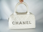 Auth Chanel White Canvas and Leather Bowling Bag (Clearance) (Sold!)