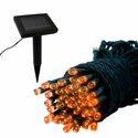 Solar Light Strand - 100 LED - Orange