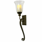 Serafina Wall Sconce with Flameless Pillar Candle