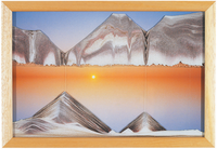 Rainbow Vision Hand Made Sand Art Picture - Sunset - By Klaus Bosch