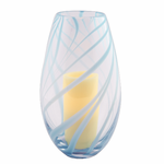 Soho Swirled Glass Hurricane with Flameless Pillar Candle