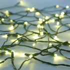 Solar String Light - 100 Warm White LEDs - 42 Feet - with Green Wire