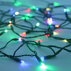 Solar String Light - 100 Multicolored LEDs - 42 Feet - with Green Wire