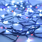 Solar String Light - 200 Red White and Blue LEDs - 77 Feet - with Green Wire