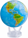 "Mova Globe - 8.5"" Rotating Globe - Blue with Relief Map"