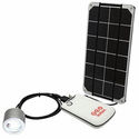Voltaic DIY Solar Cell Phone Charger Kit and Light Kit - 3.4 Watt Solar Panel, USB Battery, LED Touch Light