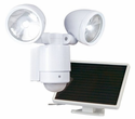 Motion-Activated Dual-Head Solar Spotlight - 12 LEDs - By Maxsa Innovations