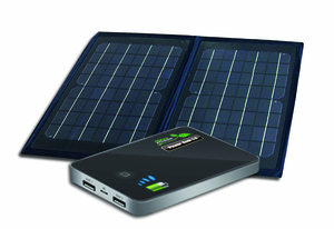 Dual USB Portable Solar Charging Kit - Foldable Solar Panel with Power Bank