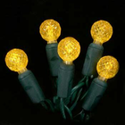G12 LED String Light - 70 Gold LEDs - 23.7 ft with Green Wire - Raspberry Design