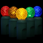 G12 LED String Light - 70 Multicolored LEDs - 23.7 ft with Green Wire - Raspberry Design