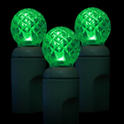 G12 LED String Light - 70 Green LEDs - 23.7 ft with Green Wire - Raspberry Design