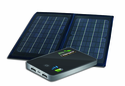 Dual USB Portable Solar Charging Kit - Foldable Solar Panel with Power Bank 5.0 - iPad and Tablet Compatible