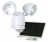 Maxsa Motion-Activated Dual-Head Solar Spotlight - 12 LEDs