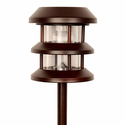 Three Tier Solar Garden Lantern - Bronze