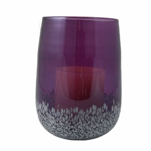 Battery Operated Candle  - Speckled Glass Hurricane