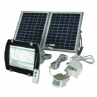 156-LED Solar Flood Light With Remote Control - SMD LED