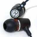 Natural Wood Earbuds - Ebony