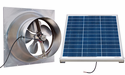 Gable Mounted Solar Attic Fan - 50 Watts - 3100 sq ft