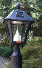 "Baytown Solar Lamp Post  with 3"" Post Mount - Fits Exisiting 3"" Post - Black or Weathered Bronze"