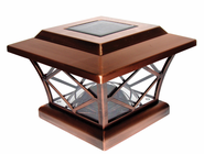Solar Post Light - Copper Plated