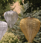 Silk Effects Solar Lanterns - TearDrop