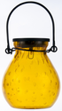 Bubble Glass Solar Lantern - AMBER
