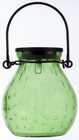 Bubble Glass Solar Lantern - EMERALD