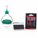 Nokero Solar Outdoor Kit - Outdoor Lighting Lamp with Solar Battery Charger and Rechargeable AA Batteries
