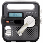 SolarLink FR360 Digital Radio - Solar and Crank Radio with NOAA Weatherband and USB Cellphone Charger - BLACK