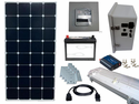 Solar Power & Lighting Kit for Sheds, Garages & Remote Cabins - 55 Amps