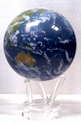 "Mova Globe - 4.5"" Rotating Globe - Satellite View with Clouds"