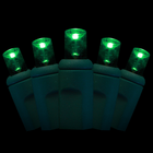 Wide Angle LED String Light - 70 Green LEDs - 24.1 ft with Green Wire