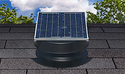 Solar Attic Fan - 10 Watts - 1200 sq ft - Black
