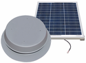 Solar Attic Fan - 50 Watts - 3100 sq ft - Comes with Remote Solar Panel