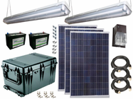 Solar Power & Lighting Kit for Sheds, Garages & Remote Cabins - 290 Amps