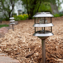 Three Tier Solar Garden Lantern - Pewter