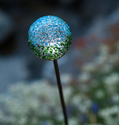 Recycled Glass Solar Garden Light Earth With White LED