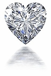 2.5 ct. 9mm Heart Cubic Zirconia Loose Stone