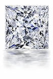 2.5 Carat 8mm Princess Cut Square Cubic Zirconia Loose Stone